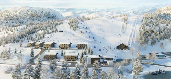 Slik ser Sauda Skisenter for seg framtida i nedre del av alpinanlegget.