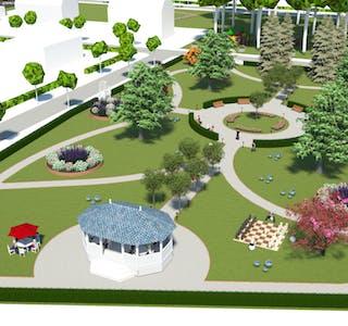 Slik ser eitt forslag ut til korleis Sneath´s Park kan gjennoppstå i all sin prakt.