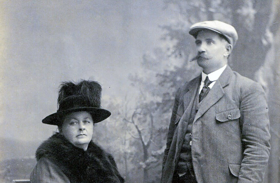Hilda og Fritjof Andersen, oppdressa hos fotograf Chr. Jørgensen i Sauda.