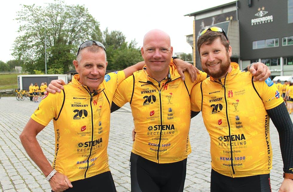 Peter Dirksen, Sander Stielstra og Oskar Bentsen hadde all mulig grunn til å være fornøyde da den lange sykkelturen var over.