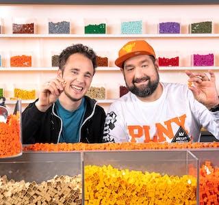 Are Odland (til venstre) og Grzegorz Gorczynski er eitt av åtte team som skal konkurrere i Lego Masters, som er den nye realitysatsinga til TV 2.