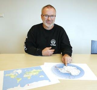 Kjetil Rasmussen skal i det neste året jobbe på den norske basen Troll i Dronning Maud Land.